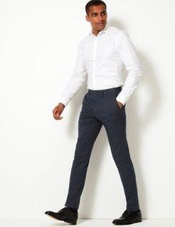 Marks & Spencer Skinny Fit Stretch Trousers - Navy - US 26in