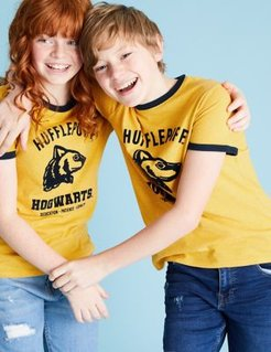 Harry Potter™ House T-Shirt (6-16 Yrs) - Yellow - 6-7 Years