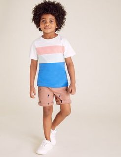 Pure Cotton Toucan Chino Shorts (2-7 Yrs) - Pink Mix - 3-4 Years