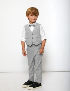 4 Piece Suit Outfit (2-7 Yrs) - Light Grey - 2-3 Years
