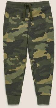 Organic Cotton Camouflage Joggers (2-7 Yrs) - Blue Mix - 2-3 Years