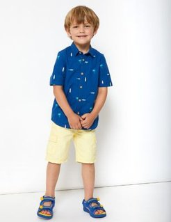 Pure Cotton Surfboard Shirt (2-7 Yrs) - Navy - 2-3 Years