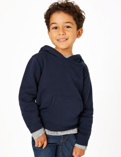 Oragnic Cotton Pullover Hoodies (3 Mths - 7 Yrs) - Navy - 2-3 Years