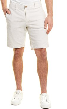 Tailor Vintage Slim Stretch Linen-Blend Walking Short