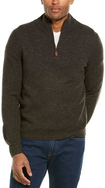 Scott Barber Merino Wool & Yak-Blend 1/4-Zip Mock Sweater