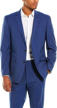 Vince Camuto 2pc Slim Fit Wool-Blend Suit with Flat Pant