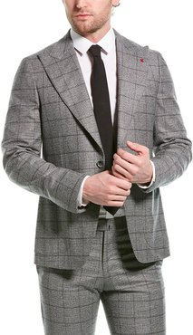 ISAIA 2pc Wool Suit with Flat Pant
