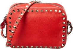 Valentino Rockstud Grainy Leather Camera Bag