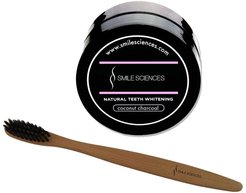 Smile Sciences Charcoal Activated Charcoal Powder & Toothbrush Whitening Combo