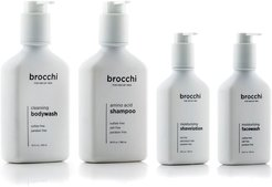 BROCCHI 4pc Shampoo, Body Wash, Face Wash, & Shave Lotion Bundle