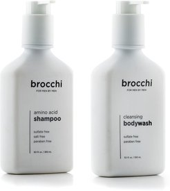 BROCCHI Cleansing Body Wash & Amino Acid Shampoo Bundle