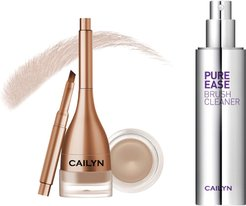 Cailyn Cosmetics Birch Gelux Waterproof Brow Pomade with Built-in Liner Brush