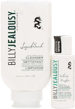 Billy Jealousy Liquid Sand Exfoliator & Knight Face Cleanser Duo