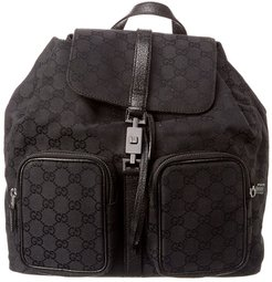 Gucci Black GG Canvas Pocket Backpack