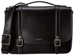 Saint Laurent School Bag Leather Shoulder Bag