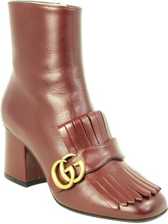 Gucci Marmont Leather Ankle Boot