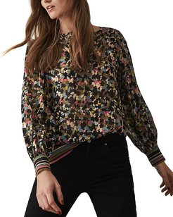 Reiss Ally Ditsy Floral Print T-Shirt