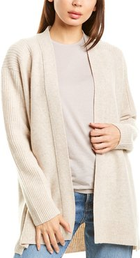 Vince Ribbed Back Wool & Cashmere-Blend Cardigan