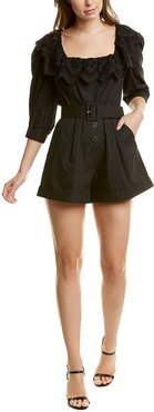 Self-Portrait Broderie Anglaise Romper