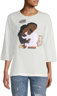 Dolce & Gabbana Family Graphic Embellished Blouse