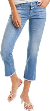CLOSED Starlet Mid Blue Low-Rise Crop