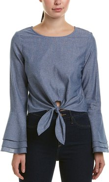LIKELY Tie-Front Top