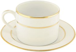 Ten Strawberry Street Double Gold Line Set of 6 Cups & Saucers