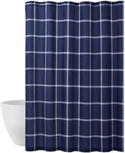 Truly Soft Printed Windowpane Shower Curtain