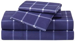 Truly Soft Tattersall Navy White Sheet Set