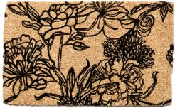 Entryways Ink Bouquet Doormat