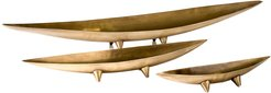 Torre & Tagus Antique Brass Tapered Boat Bowls