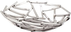 Torre & Tagus Twig Stainless Steel 12in Diameter Round Bowl