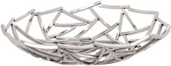 Torre & Tagus Twig Stainless Steel 15in Diameter Round Bowl