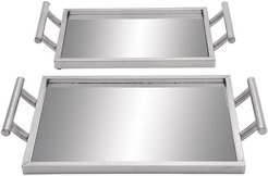 CosmoLiving by Cosmopolitan Set of 2 Trays
