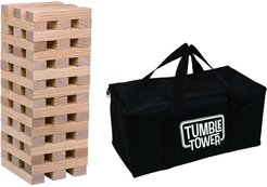 Set of 54 with Bag Transpac Wood Multicolor Spring Outdoor Tumble Tower