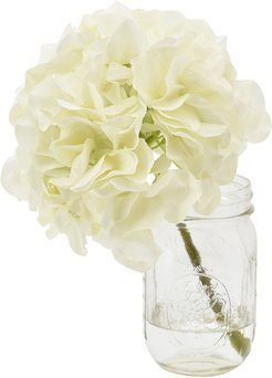 Creative Displays Hydrangeas Over Water in Mason Jar
