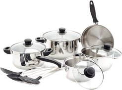 Old Dutch 12pc Stainless Steel Cookware Set & Kitchen Tools