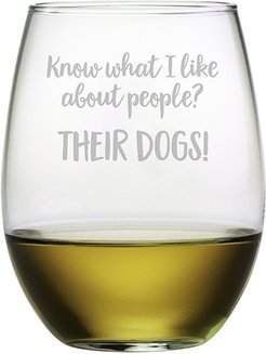 Susquehanna Glass Their Dogs Stemless Wine & Gift Box