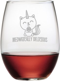Susquehanna Glass Meowgically Delicious Stemless Wine & Gift Box