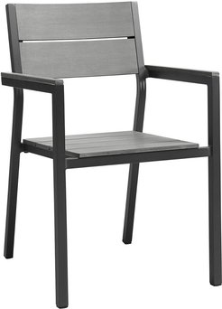 Modway Maine Dining Outdoor Patio Aluminum Armchair