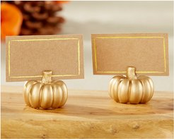 Kate Aspen Set of 12 Gold Pumpkin Place Card Holderes