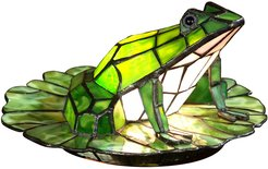 Frog Lily Pad Tiffany Accent Table Lamp