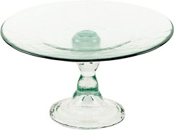 BIDKhome Small Recycled Glass Cake Stand D8.5 H3
