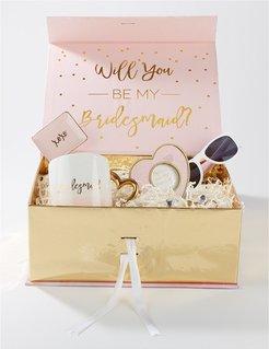 Kate Aspen Pink & Gold Will You Be My Bridesmaid Kit Gift Box