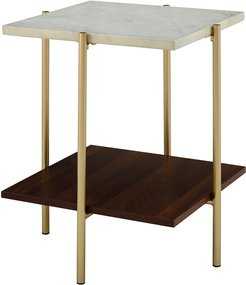 Hewson 20in Glam Square Side End Table