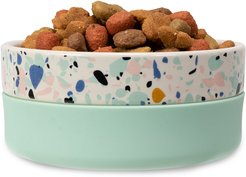 Jonathan Adler Now House Mint Terrazzo Duo Dog Bowl - Small