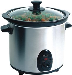 Narita Electric Stainless Steel 3.5qt Slow Cooker