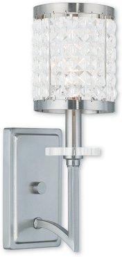 Livex Grammercy 1-Light Brushed Nickel Wall Sconce