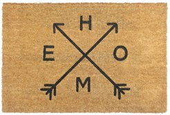 RugSmith Natural Home Arrows Coir Doormat