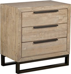 Classic Home by Kosas Home Norton Reclaimed Pine 3 Drawer Nightstand